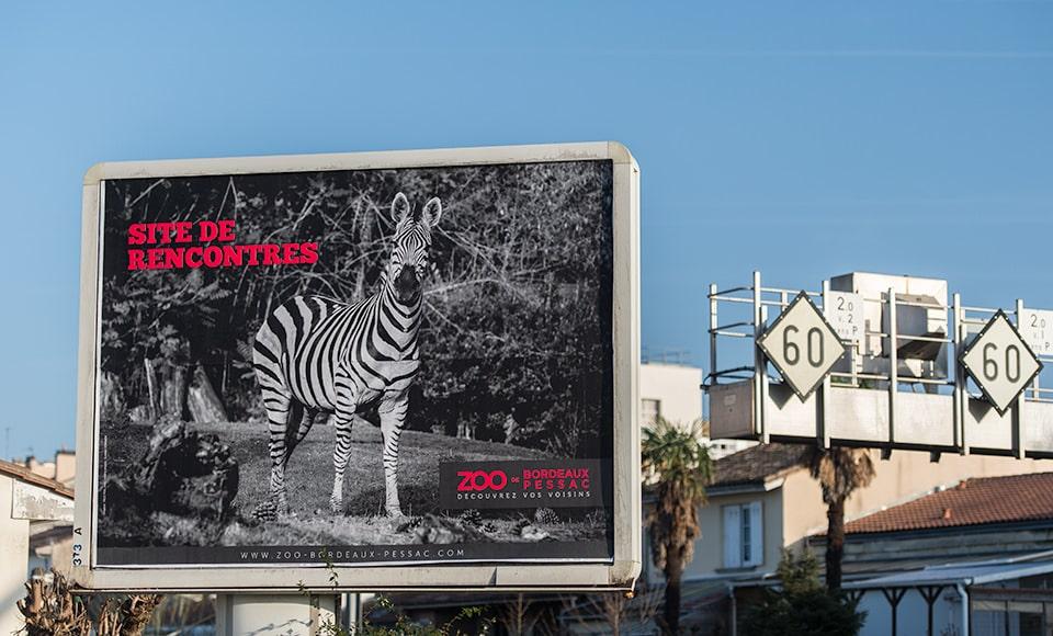 Zoo de Pessac publicité 4x3