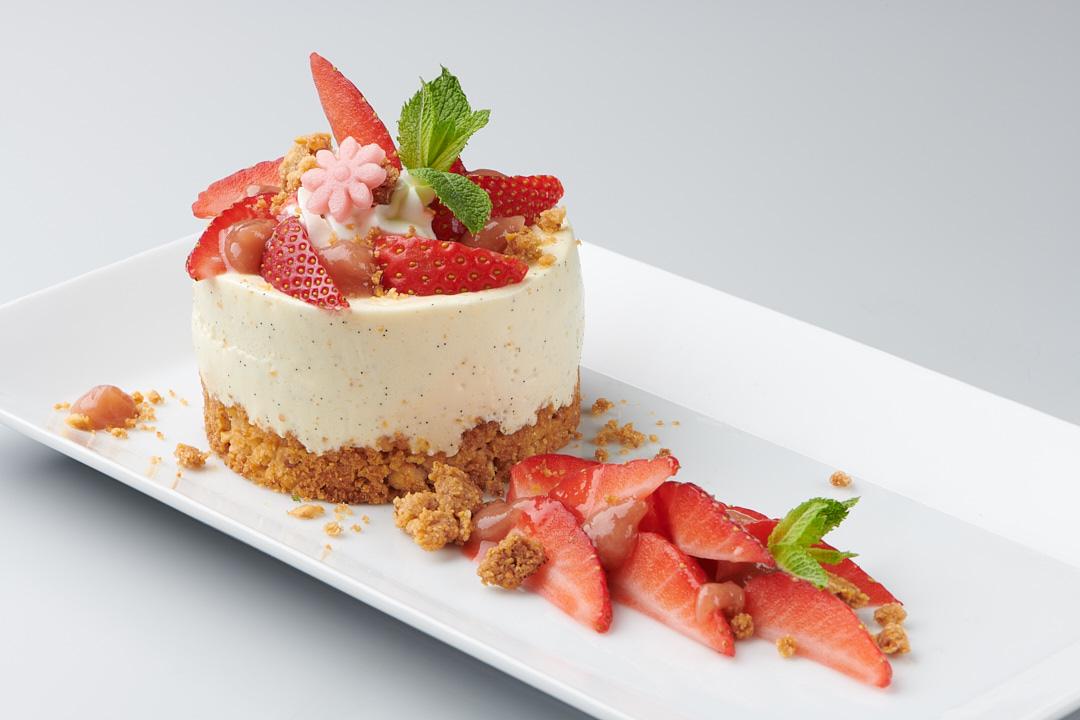 Desserts gastronomiques : Crumble fraise rhubarbe