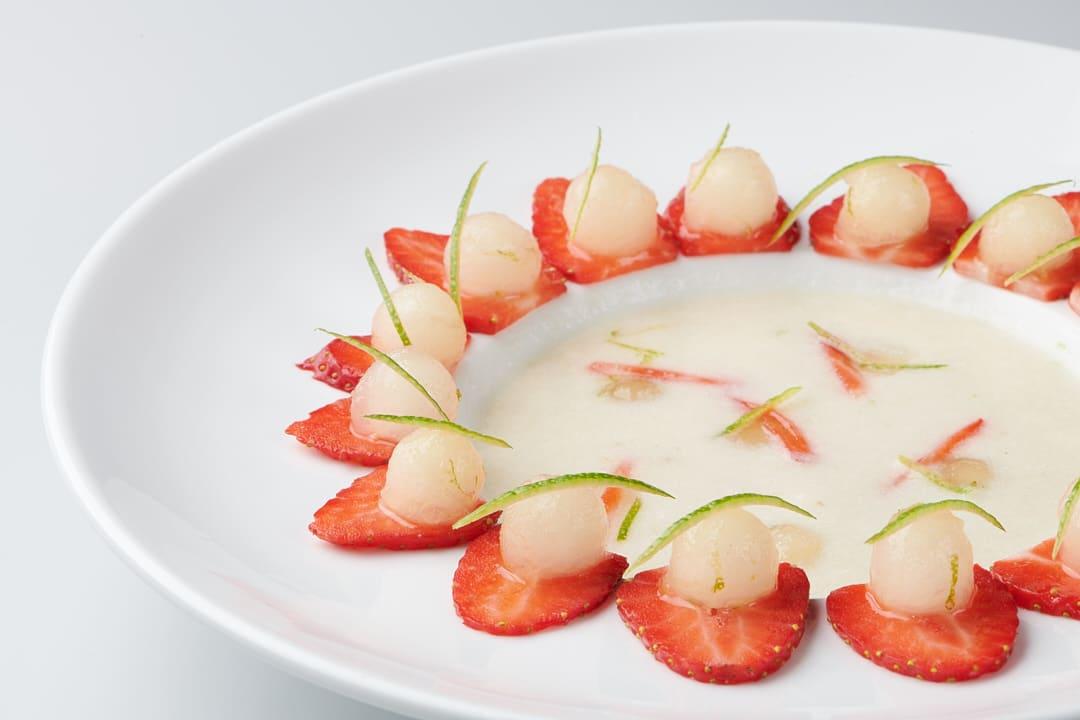 Desserts gastronomiques : soupe de melon