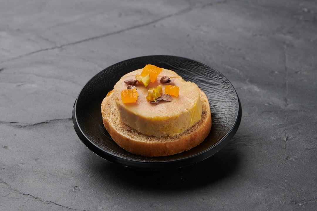 Mises en bouche & plats : Foie gras mi-cuit