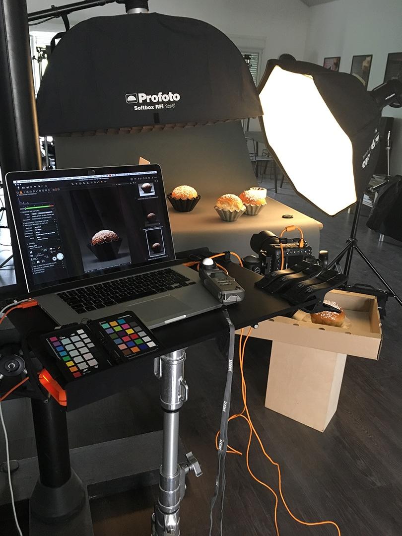 Backstage studio shoot culinaire